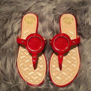 Red Vince Camuto flip flops